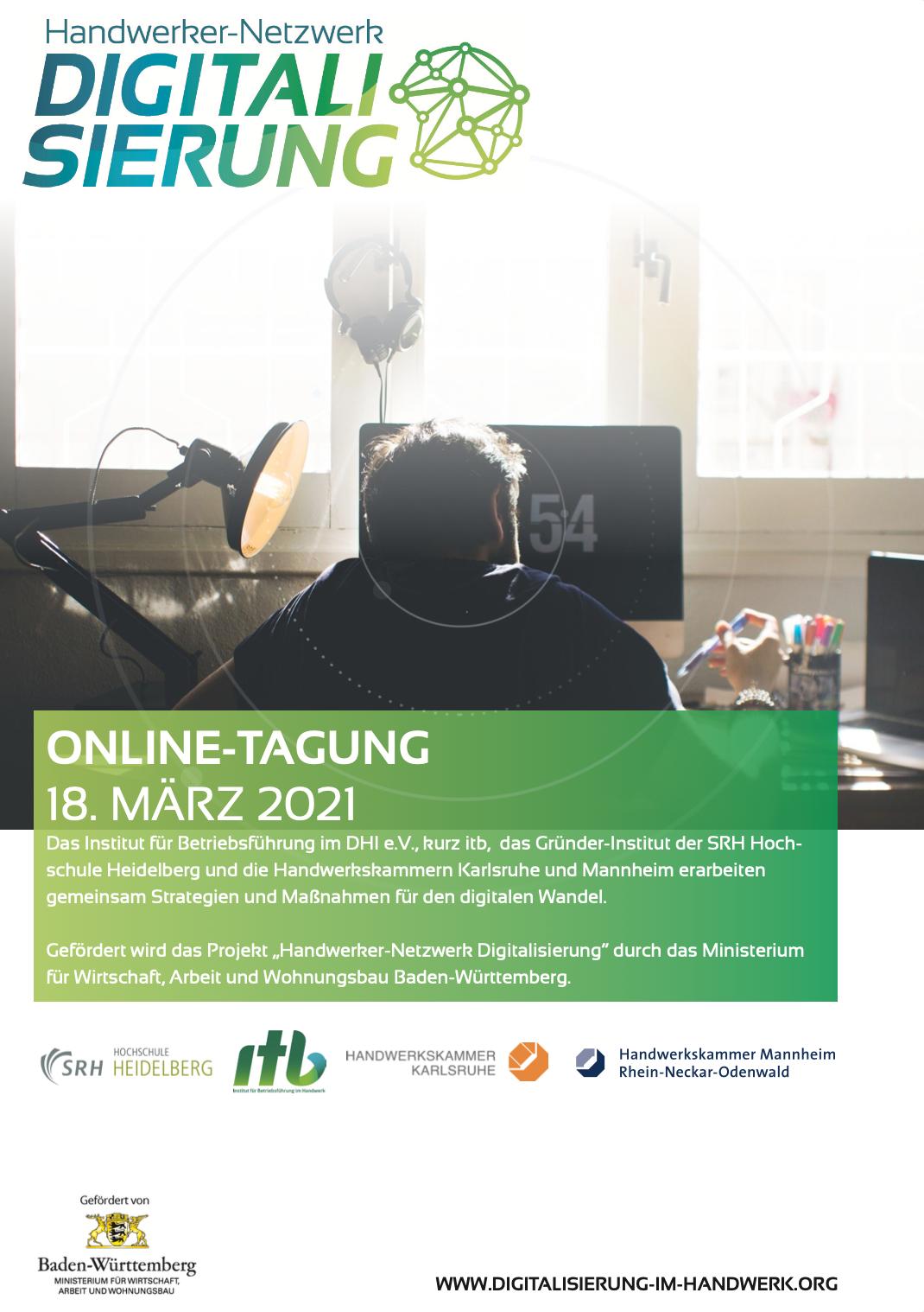 Handwerker Netzwerk Digitalisierung Konferenz Flyer